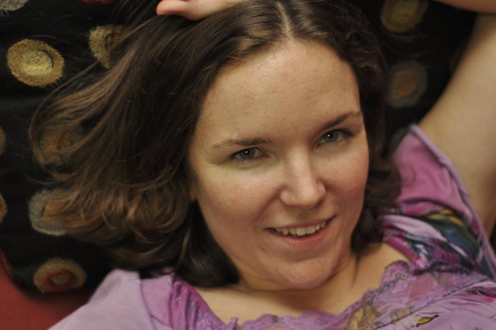 Face Girl Brown hair Happy