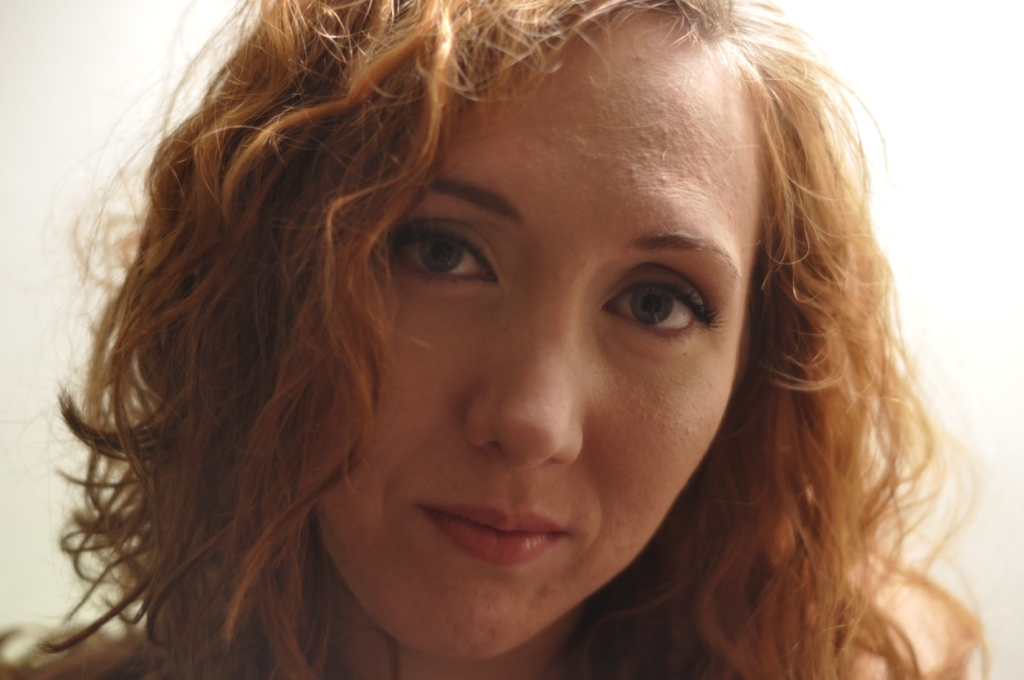 Face Girl Red hair Curly American Pretty