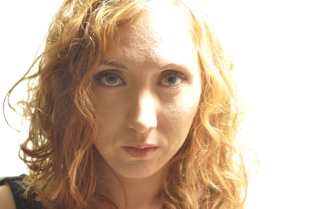 Face Girl Red hair Curly Makeup