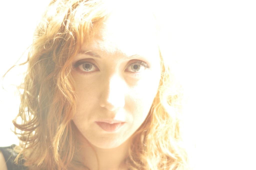 Face Girl Red hair Curly Pretty