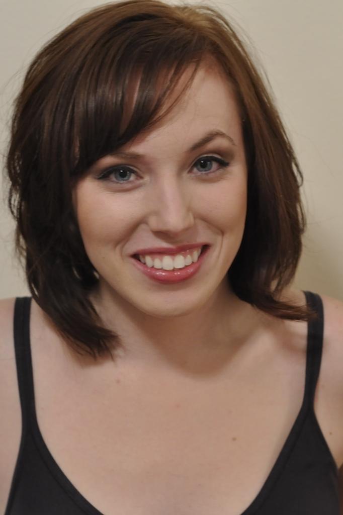 Face Model Girl Brown hair Bangs Smile Medium hairstyles