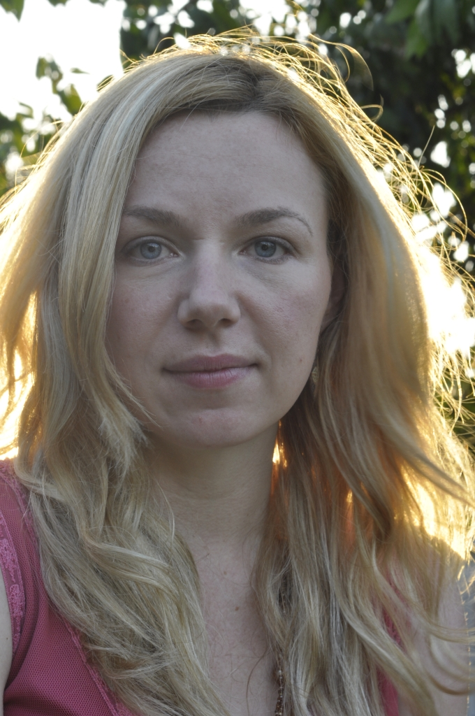 Girl Face Blonde hair Curly long White