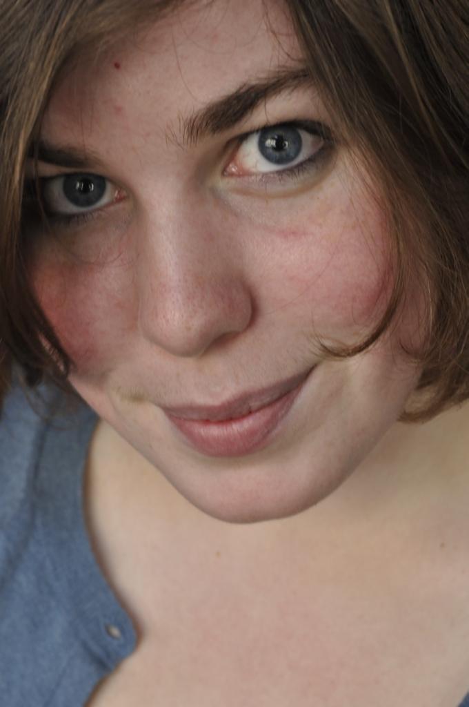 Girl Face Brown hair Smile Eyes