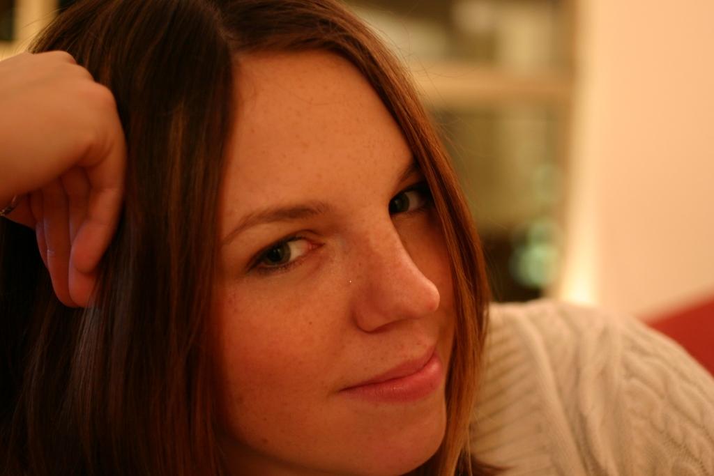 Girl Face Brown hair Teenage