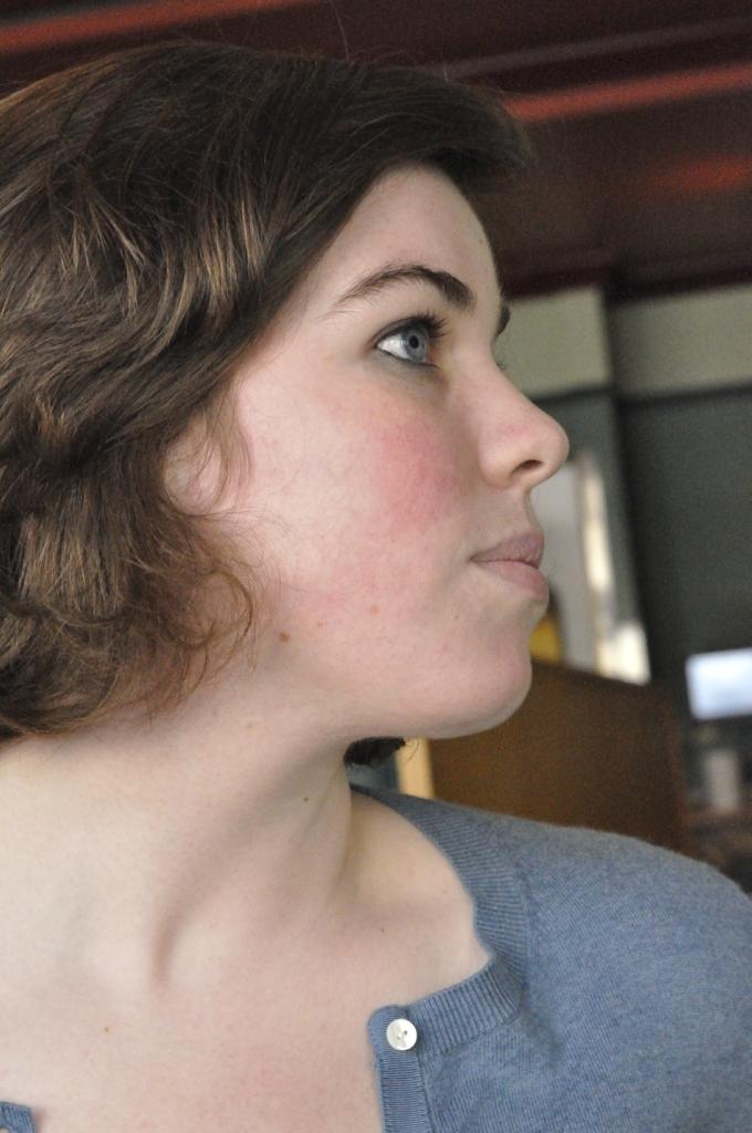 Girl Face Brown hair White