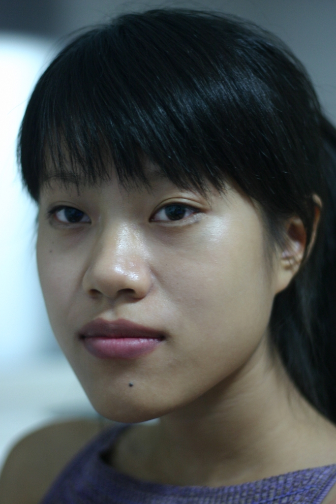Girl with Black Hair and Bangs