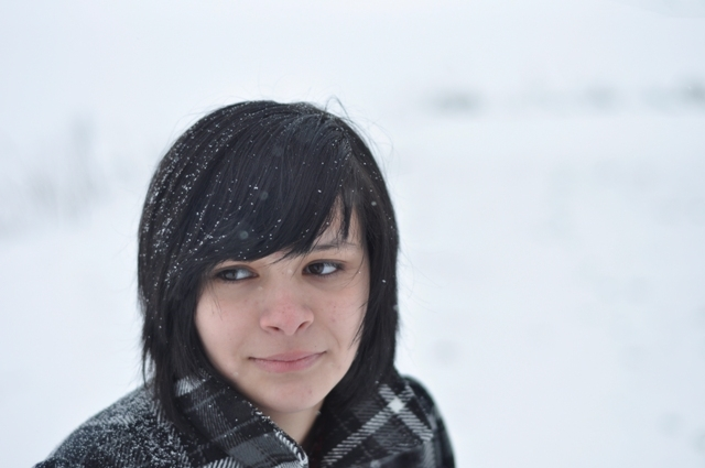 Girl Face Native American Indian Black hair Bangs Teenage Mexian Beautiful