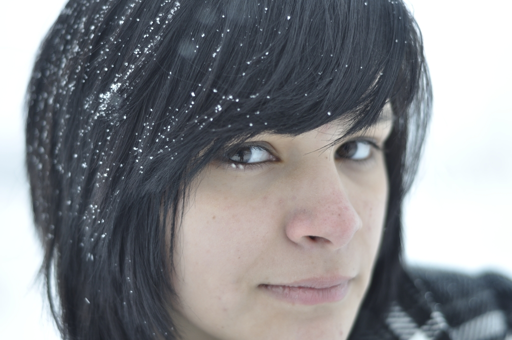 Girl Face Native American Indian Black hair Bangs Weather Teenage Mexian Cute