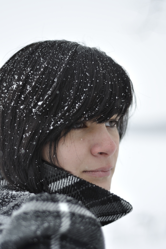 Girl Face Native American Indian Black hair Bangs Weather Teenage Mexian Pretty
