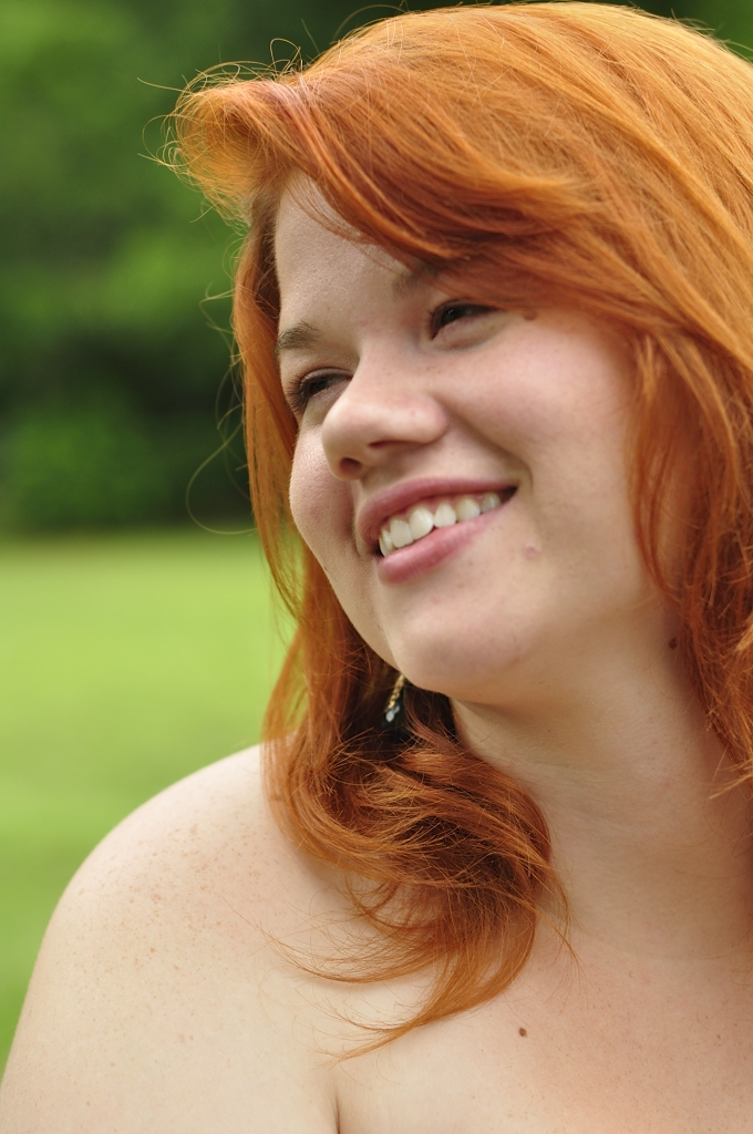 Girl Face Red hair Teenage Country American Pretty Medium hairstyles Happy