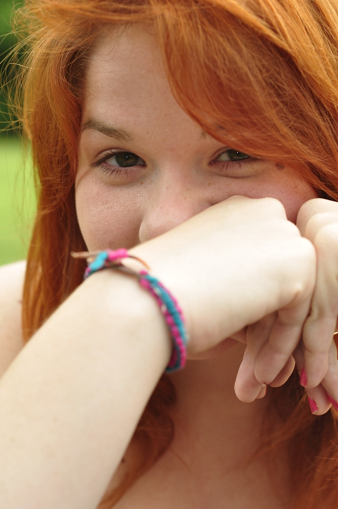 Girl Face Red hair Teenage Country Beautiful