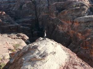 Hunter Hogan looking at the Treasury in Petra