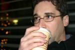 Hunter Hogan drinking coffee in Frankfurt