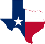 Licensed under Creative Commons Attribution-Share Alike 3.0 via Wikimedia Commons - https://commons.wikimedia.org/wiki/File:Texas_flag_map.svg#mediaviewer/File:Texas_flag_map.svg