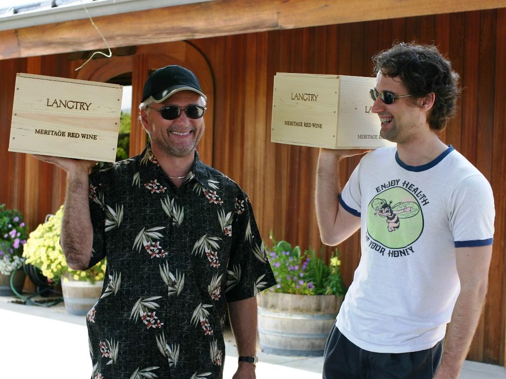 Dan Hogan and Hunter Hogan in Northern California