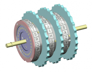 Enigma rotor set. Licensed under Creative Commons Attribution-Share Alike 3.0 via Wikimedia Commons - HTTPS://commons.wikimedia.org/wiki/File:Enigma_rotor_set.png#mediaviewer/File:Enigma_rotor_set.png