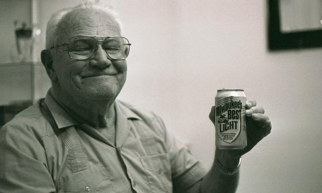 Grandpa loves beer