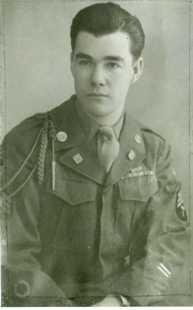 """""""Pa"""" in his WWII uniform wearing the wristwatch I now have"""