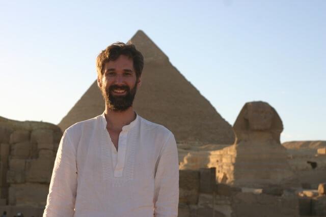 Hunter Hogan at the Giza Pyramids