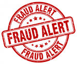 Fraud alert stamp