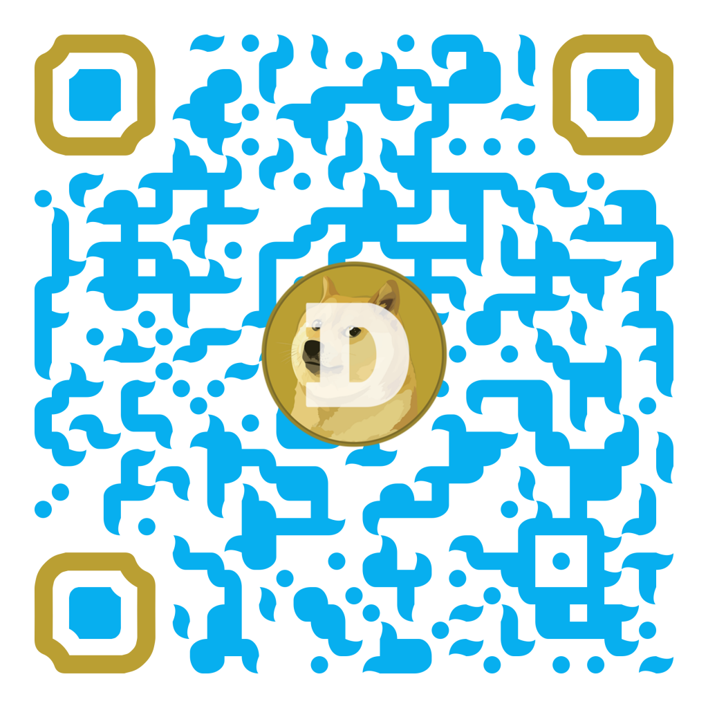 QR cryptocurrency Dogecoin