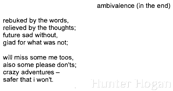 ambivalence (in the end)