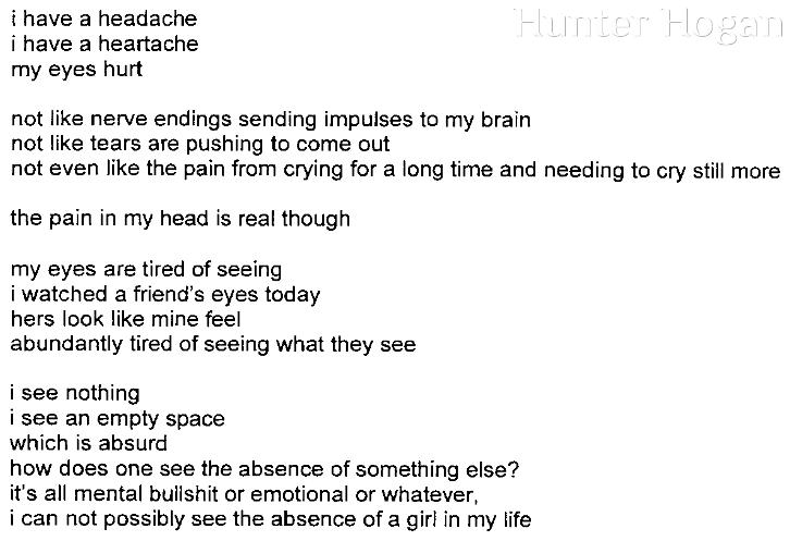 [i have a headache]