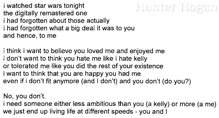 [i watched star wars tonight]